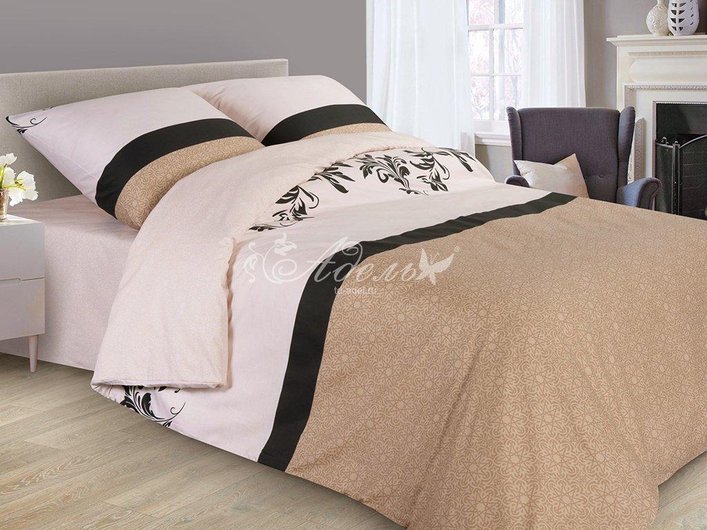 Постельное белье Сливочный ликер (сатин) (1,5 спальный) постельное белье пузыри сатин 1 5 спальный