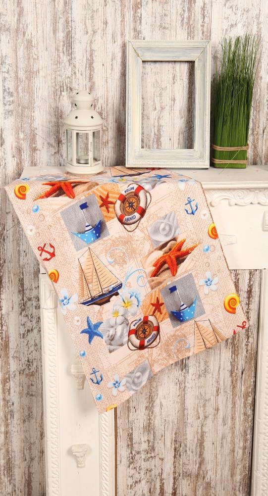 Полотенце кухонное Море (50х70) романтика кухонное полотенце розовый ноктюрн 50х70 см 2 шт