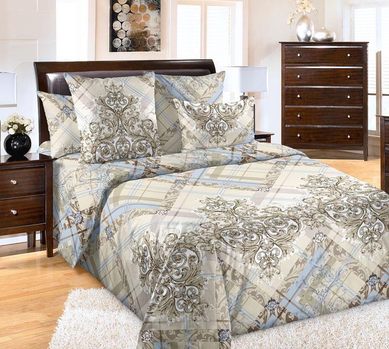 Постельное белье Таинство (перкаль) (2 спальный с Евро простынёй) постельное белье альба перкаль 2 спальный