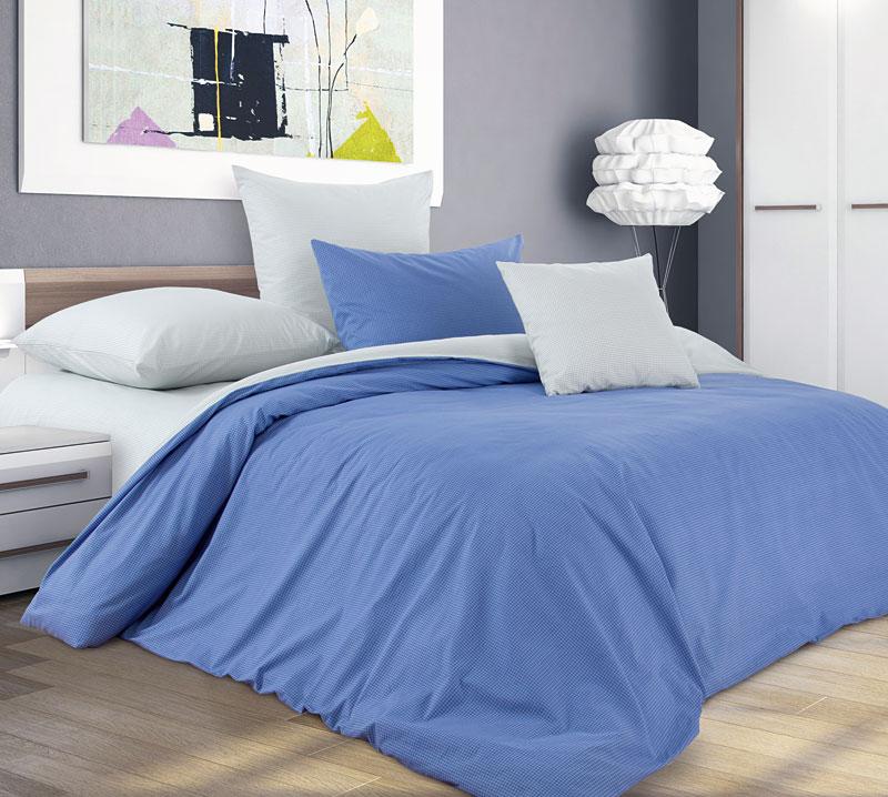 Постельное белье Черничный десерт (перкаль) (2 спальный с Евро простынёй) постельное белье альба перкаль 2 спальный