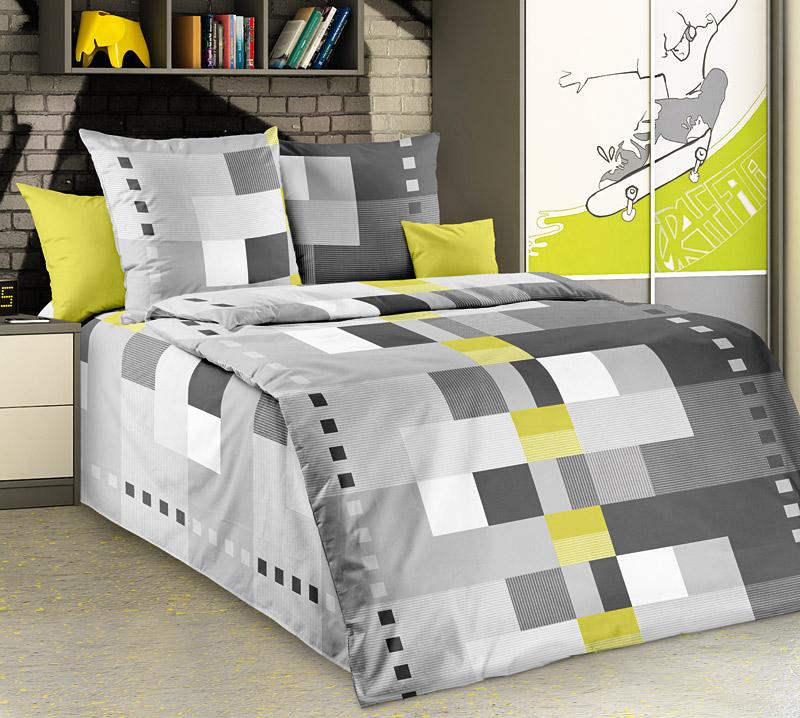 """Постельное белье """"Комильфо"""" серый (бязь) 1,5 спальный"""