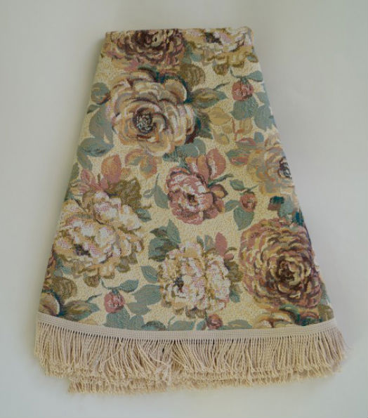 """Скатерть гобеленовая """"Голландские цветы"""" (круглая) (160*160) pd70f 160"""
