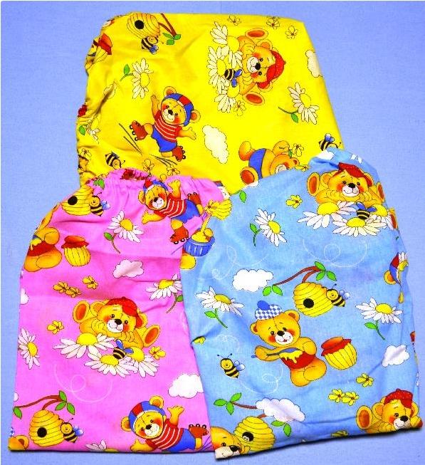 купить Простыня детская на резинке в ассортименте (бязь) (60х120) по цене 209 рублей