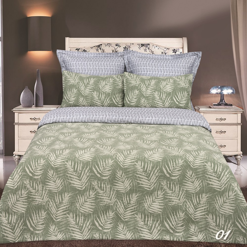 Фото - Постельное белье iv45033 зеленый (сатин-жаккард) (2 спальный с Евро простынёй) постельное белье iv69910 сатин жаккард 2 спальный с евро простынёй