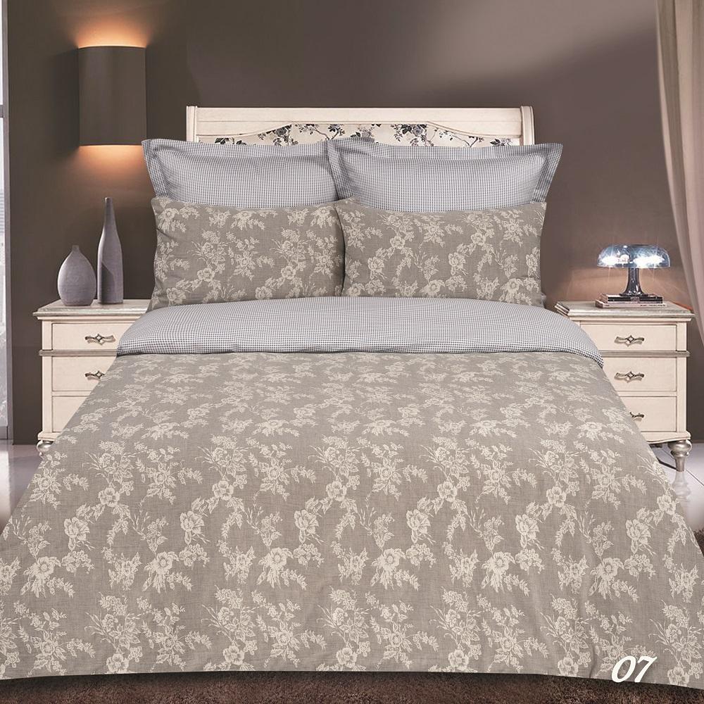 Постельное белье Букет светло-серый (сатин-жаккард) (2 спальный с Евро простынёй) постельное белье cleo кпб сатин набивной люкс дизайн 365 2 спальный