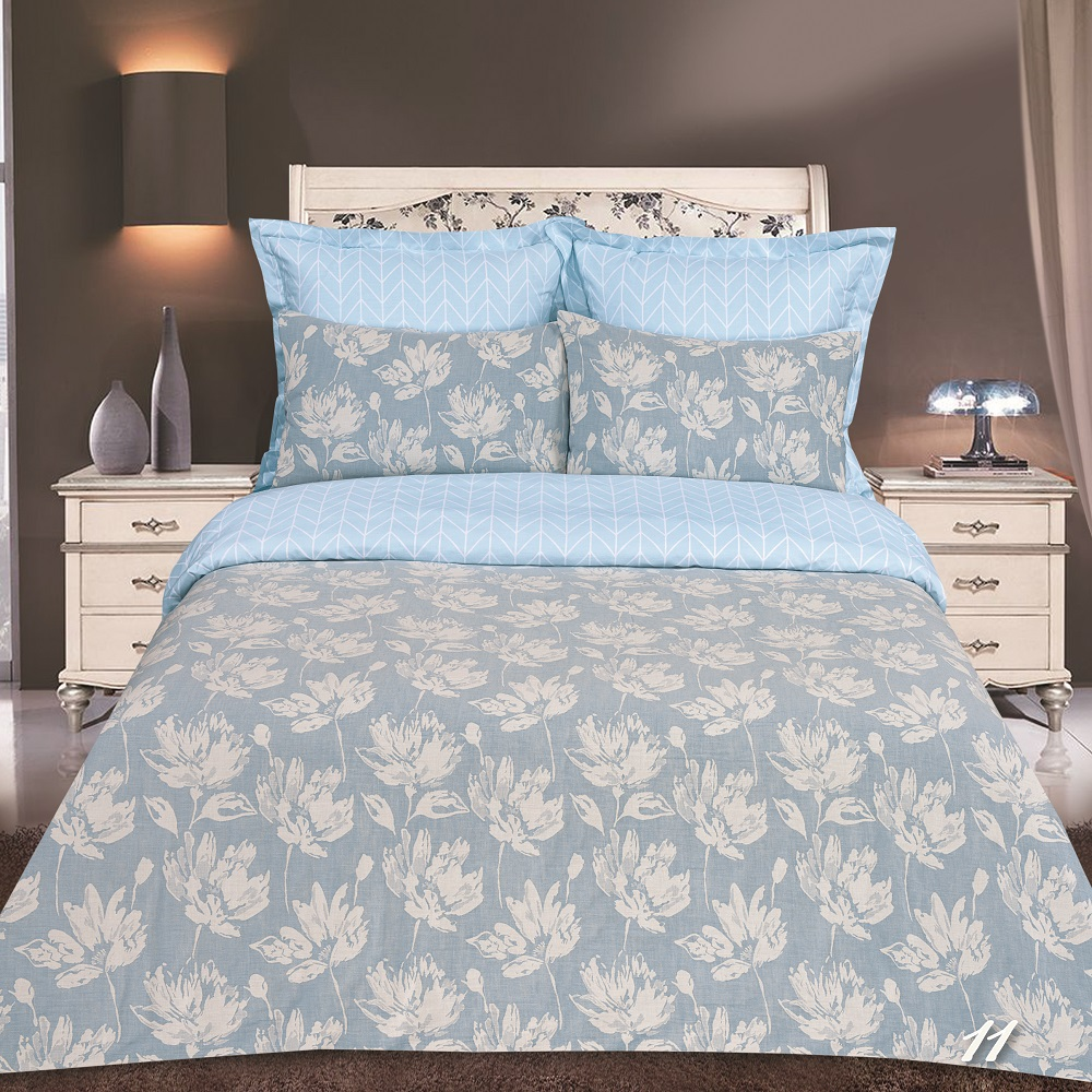 Фото - Постельное белье iv45042 голубой (сатин-жаккард) (2 спальный с Евро простынёй) постельное белье iv69910 сатин жаккард 2 спальный с евро простынёй