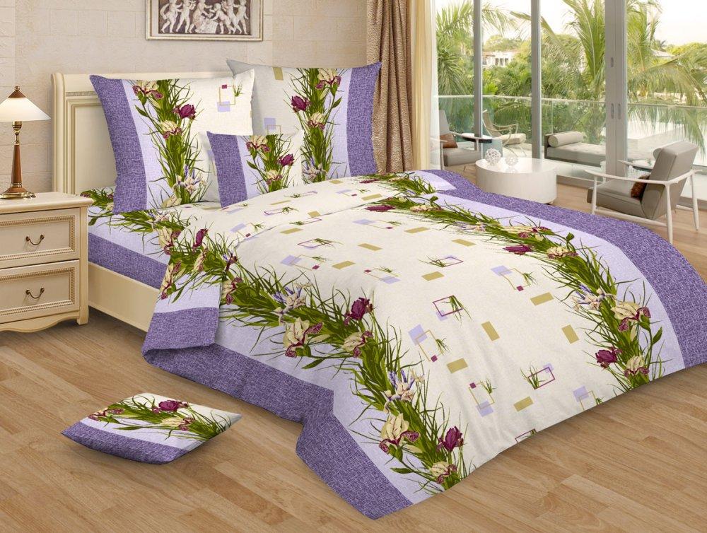 Постельное белье Ирисы GS (бязь) (1,5 спальный) постельное белье жаркое лето бязь 1 5 спальный
