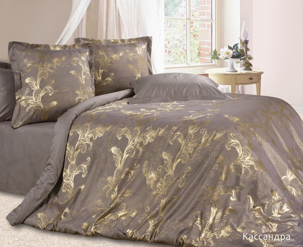 """Постельное белье """"Касандра"""" (сатин-жаккард) (1,5 спальный) silk place постельное белье poardi 1 5 сп сатин жаккард терракотовый ccymxll"""