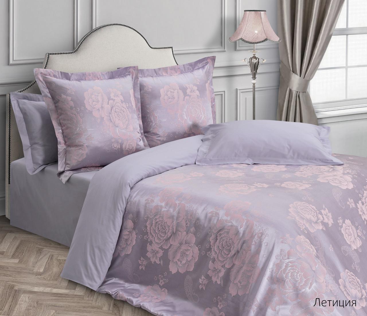 Постельное белье Летиция (сатин-жаккард) (2 спальный с Евро простынёй) спальный гарнитур нк мебель летиция