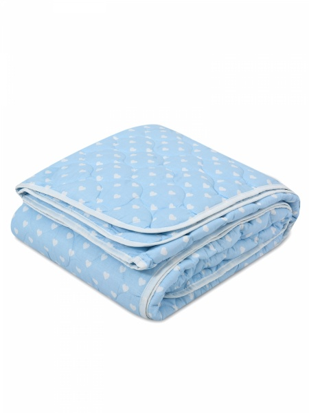 """Одеяло всесезонное """"Тунбергия"""" (лебяжий пух, поплин) (2 спальный (172*205)) natures пуховая коллекция морская свежесть одеяло кассетное всесезонное мсв о 7 2"""