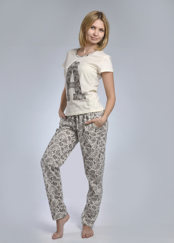 Пижама женская #Буква# 50, Размер: 50 - Одежда для сна - Пижамы