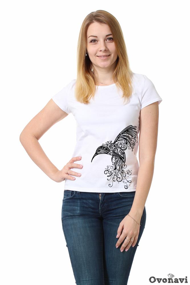 Футболка женская Ивет (принт: колибри) (64) футболка женская калина принт колибри