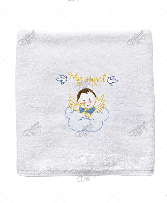 Крестильное полотенце для мальчика Чико (70х140) платье крестильное иришка 24 26