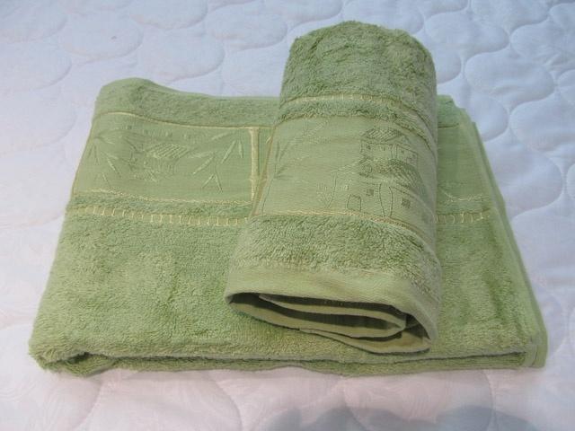 """полотенце """"Домик"""" (зеленое) (70х140)"""