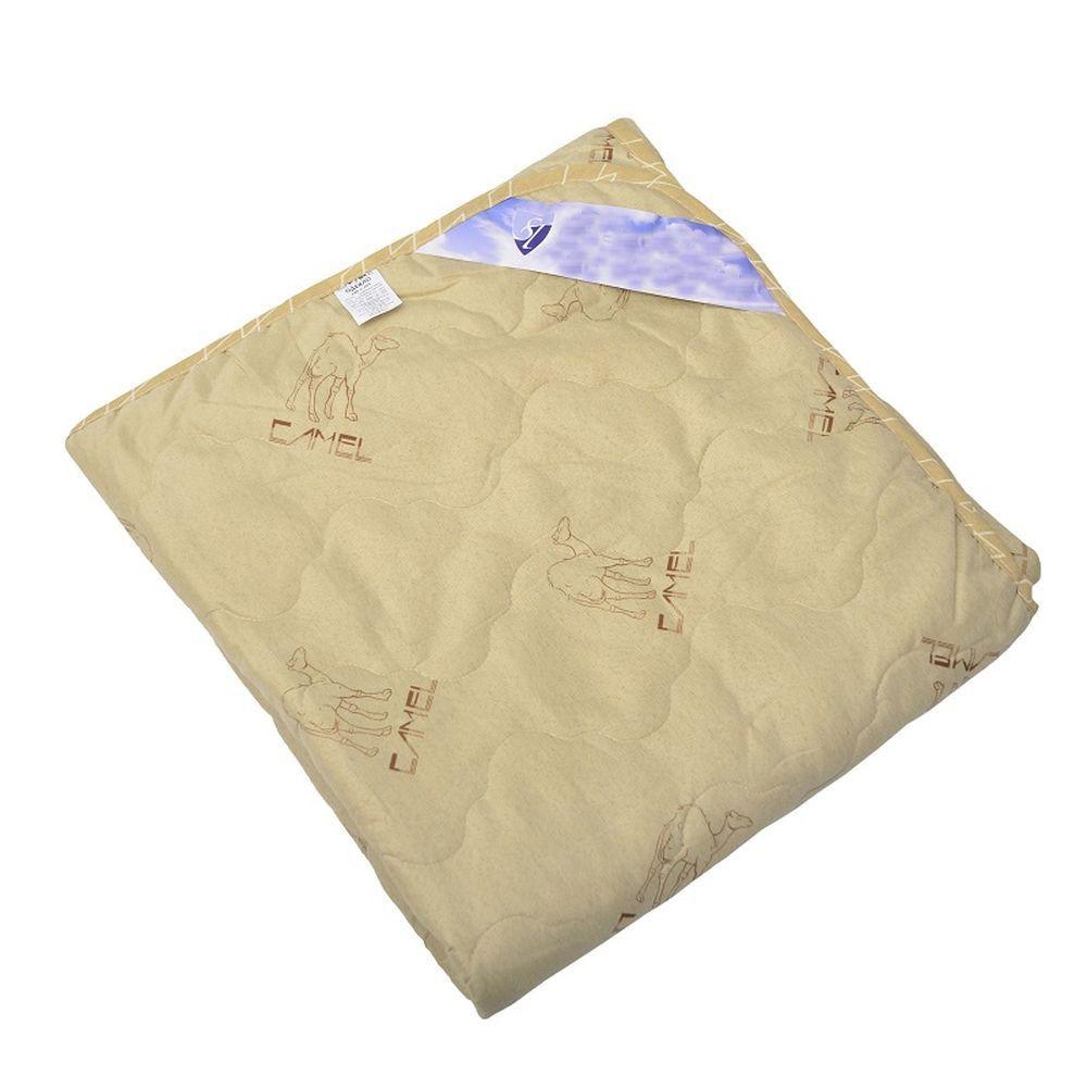 """Одеяло летнее """"Караван"""" (верблюжья шерсть, микрофибра) 1,5 спальный (140*205)"""