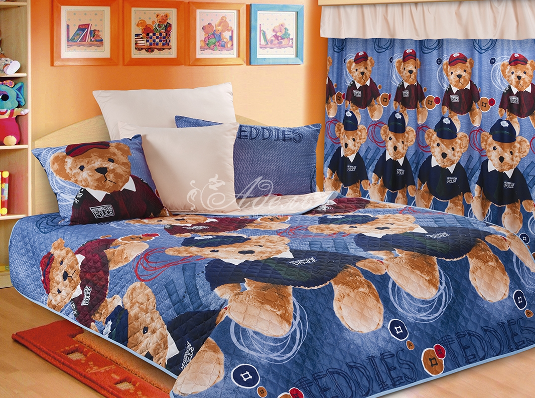 Покрывало Тедди синий (полисатин) (140х200) покрывало marianna покрывало blair 140х200 см