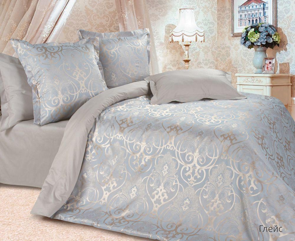 Постельное белье Глейс (сатин-жаккард) (Евро-1) постельное белье экзотика кензо комплект евро сатин