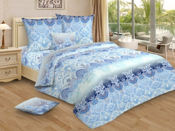 Постельное белье Снежные узоры (бязь) (1,5 спальный) постельное белье ромашковое поле бязь 1 5 спальный