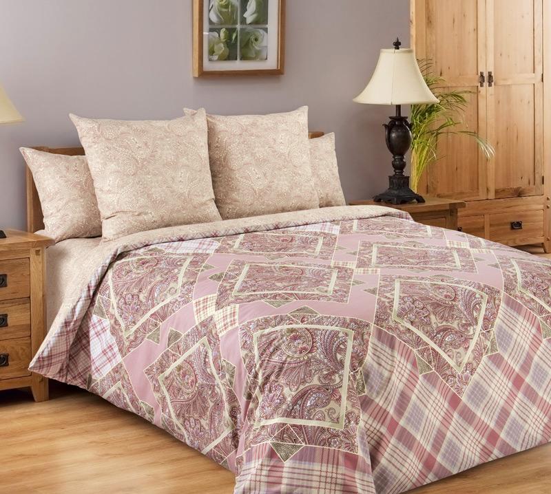 Постельное белье Итальянка розовый (перкаль) (2 спальный) постельное белье альба перкаль 2 спальный