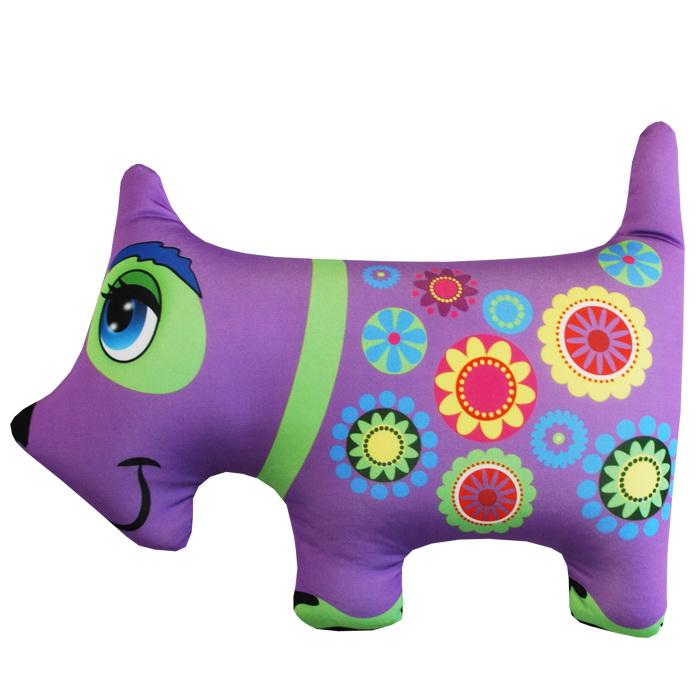 """Антистрессовая игрушка """"Фиолетовая собачка"""" 37х27"""