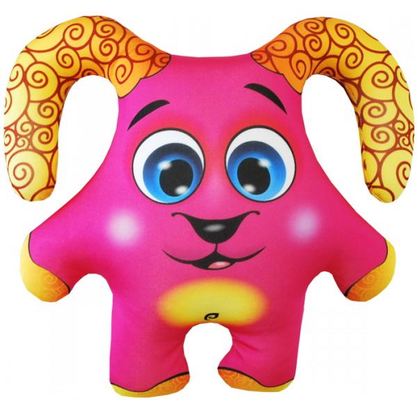 """Антистрессовая игрушка """"Барашек розовый"""" 34х30"""