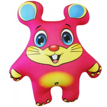 """Антистрессовая игрушка """"Мышка розовая"""" 33х27"""