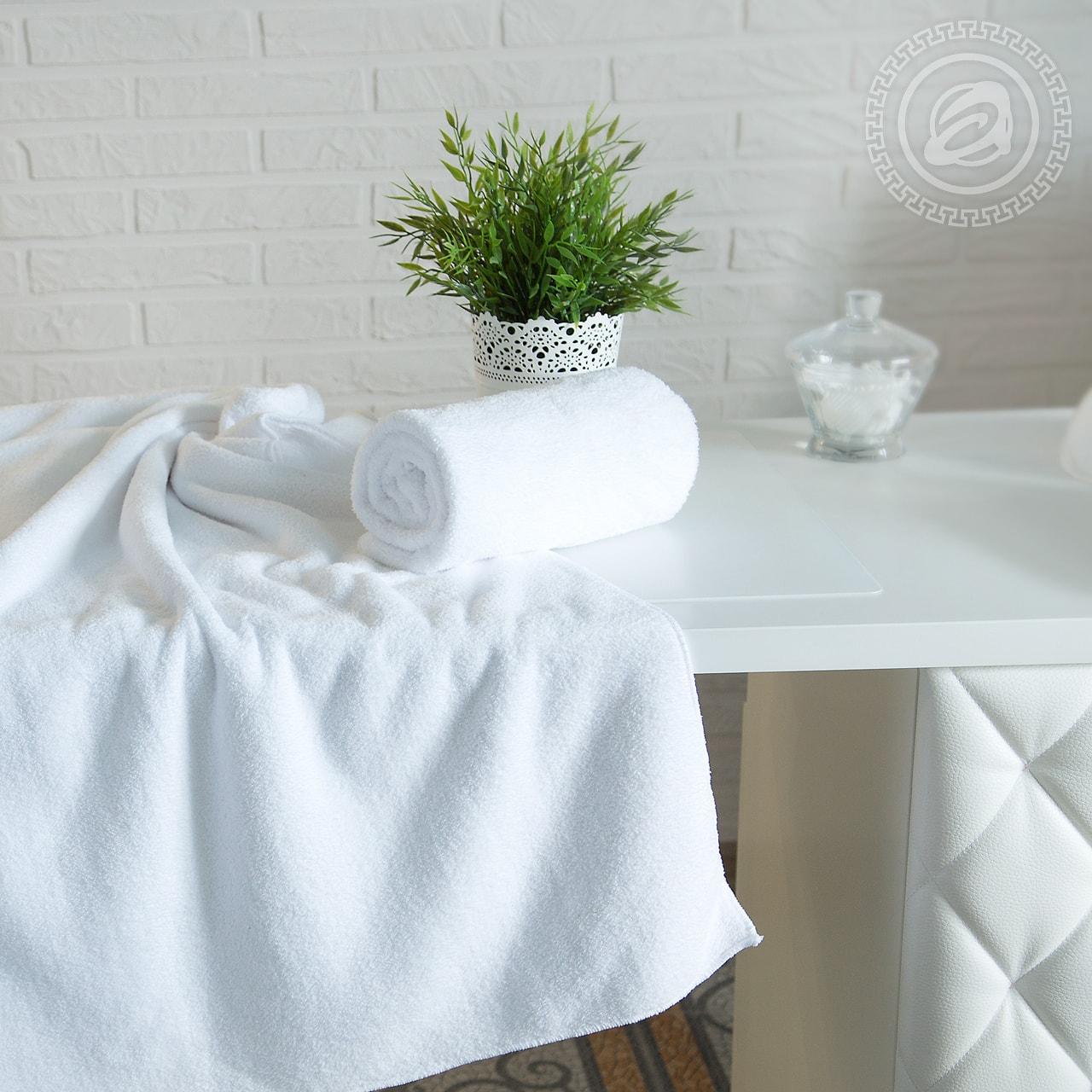 Полотенце банное Белый (50х90) antik полотенце 50х90 хлопок