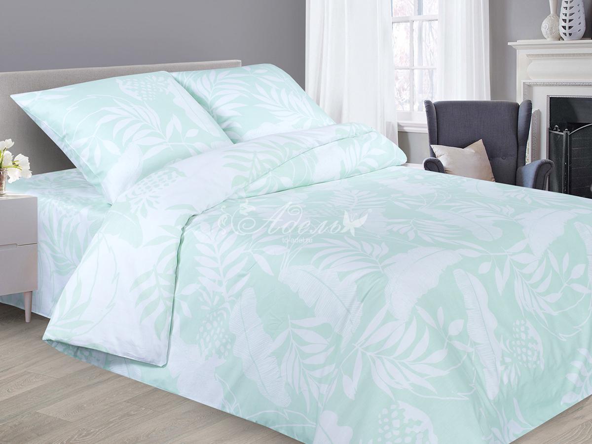 Постельное белье iv51320 (сатин) 2 спальный с Евро простынёй фото
