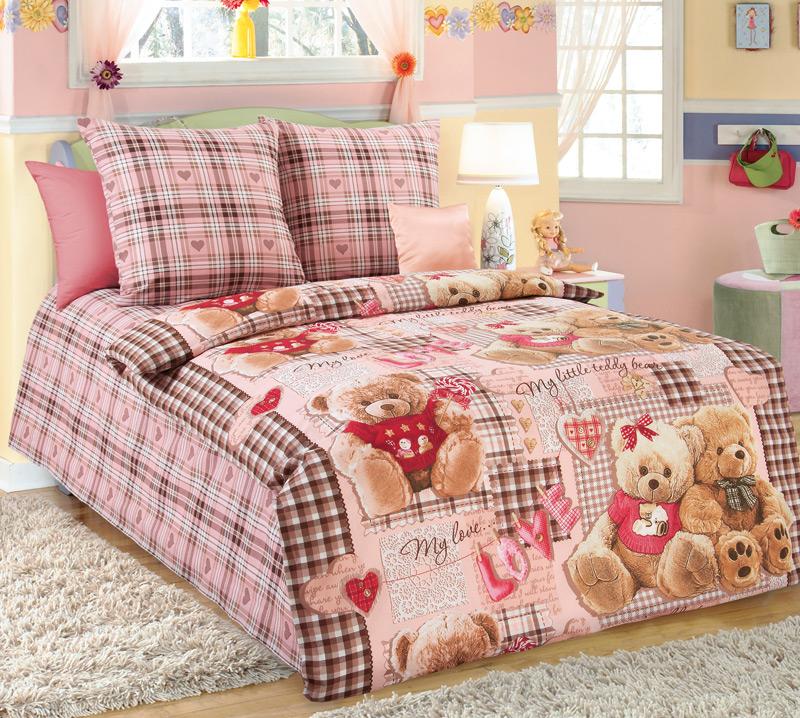 Постельное белье Плюшевые мишки (бязь) (1,5 спальный) постельное белье жаркое лето бязь 1 5 спальный