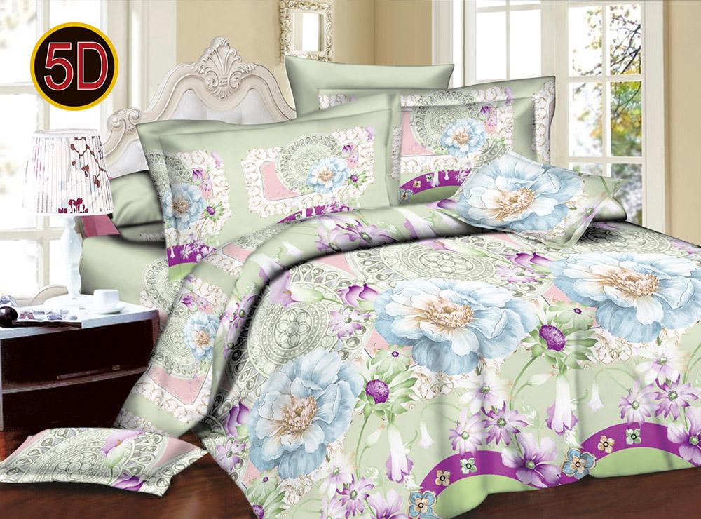 Постельное белье 'Нежность 5D (полисатин) (1,5 спальный) постельное белье эго комплект 1 5 спальный полисатин