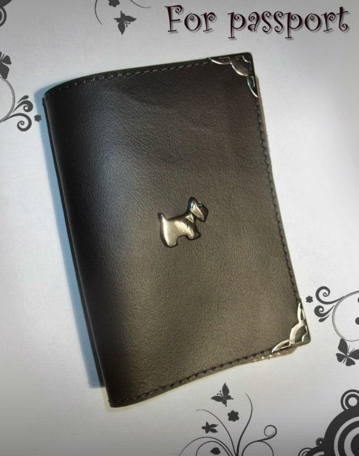 """Обложка для паспорта """"Щенок 4"""" от Грандсток"""