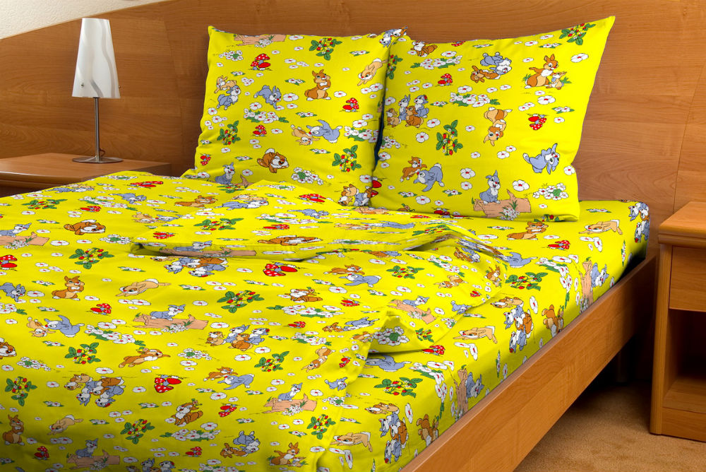 """Постельное белье """"Веселые зайчата GS"""" (бязь) 1,5 спальный"""