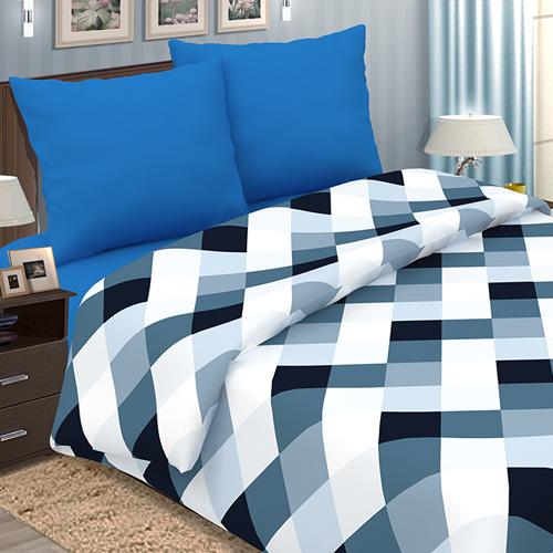 """Постельное белье """"Арманд"""" синий (поплин) (2 спальный) постельное белье экзотика 555 комплект 2 спальный поплин"""