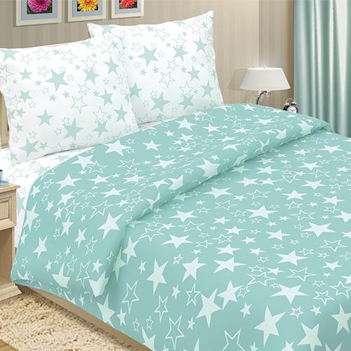 Фото - Постельное белье Звёзды (поплин) (2 спальный с Евро простынёй) постельное белье неайполь поплин 2 спальный