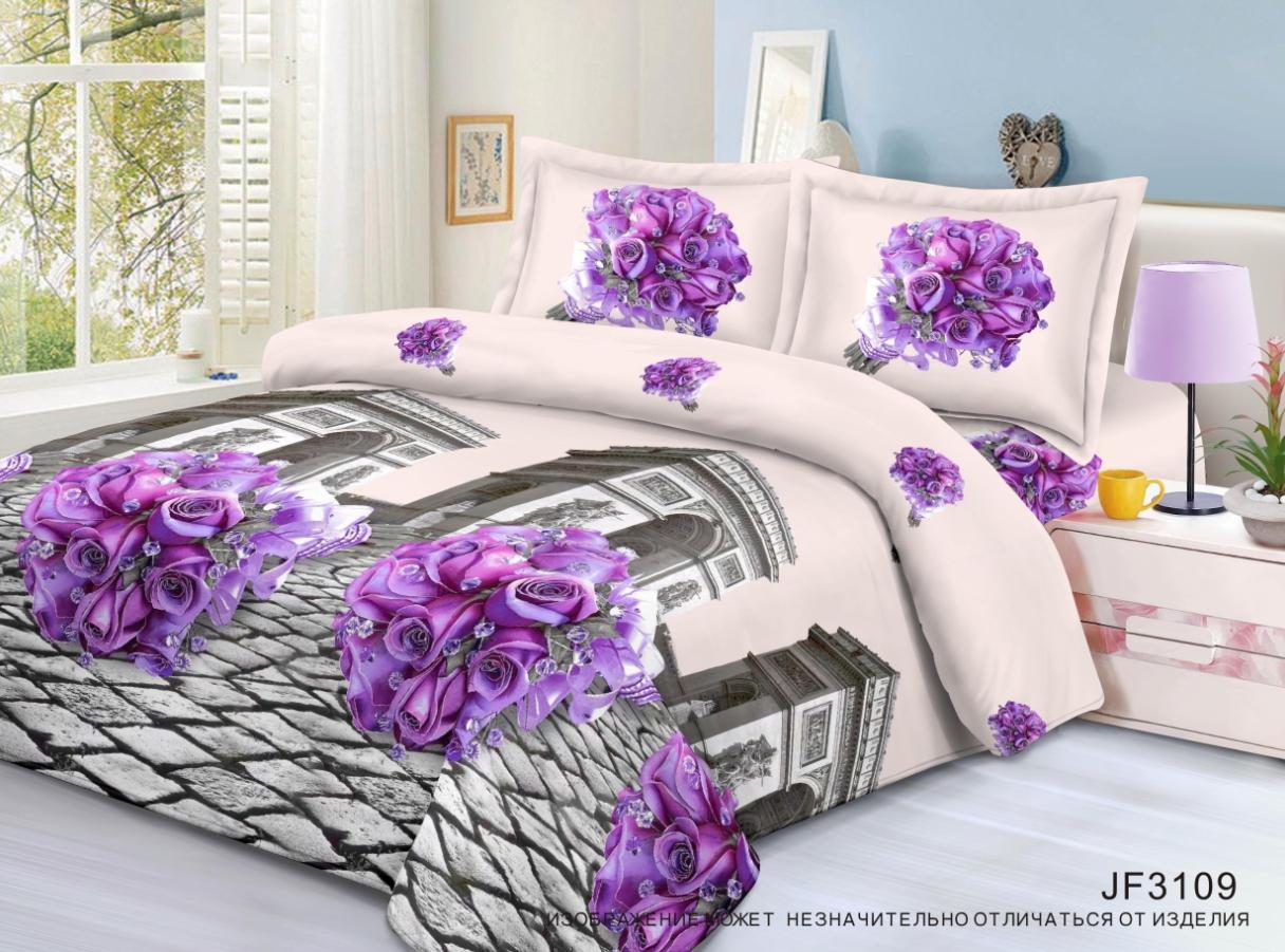 Постельное белье iv48399 (полисатин) (1,5 спальный) постельное белье король лев 3d полисатин