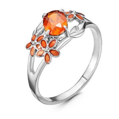 Кольцо серебряное 2388740Д8 кюп женское серебряное кольцо с куб цирконием alm3201002261 17