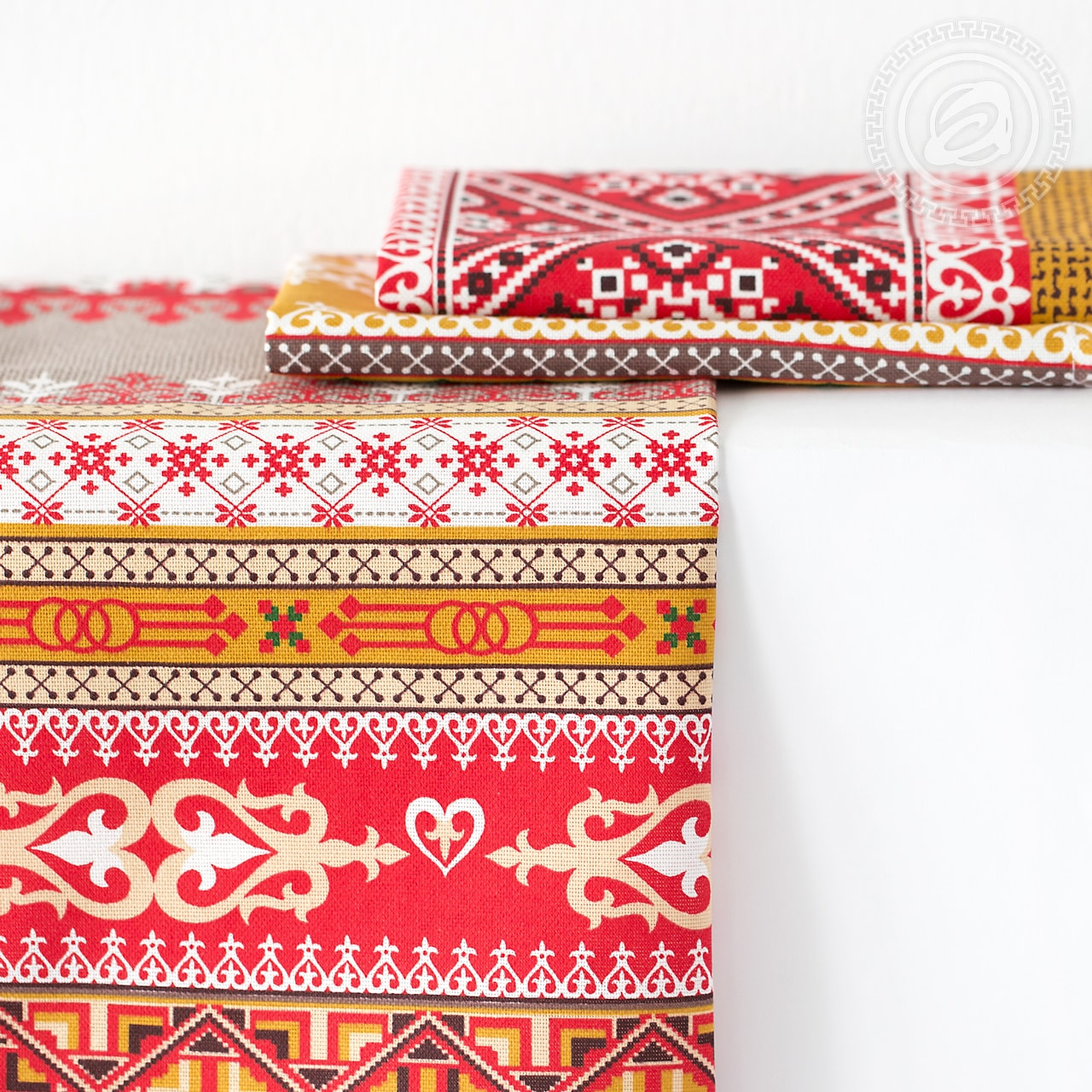 Набор из 3 кухонных полотенец Домашний очаг красный (45х60) набор из 3 кухонных полотенец три поросенка 45х60