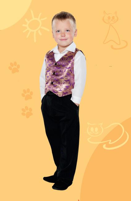 Костюм детский Августин (жилет и брюки) детский костюм помидора 28 32