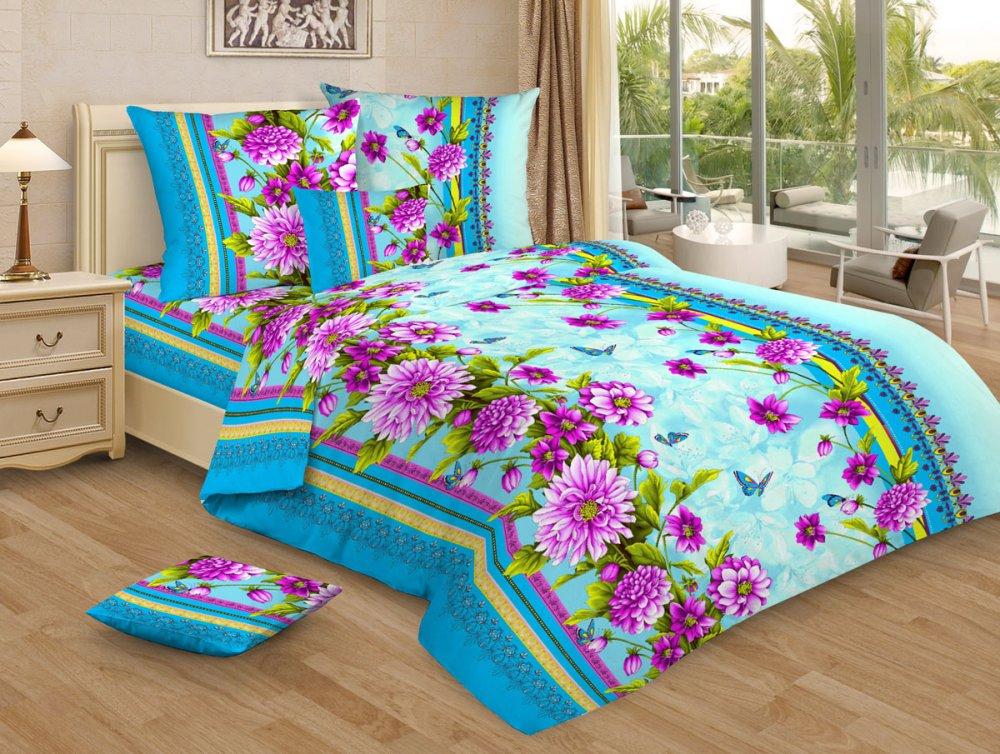 Постельное белье Герцогиня голубая GS (бязь) (1,5 спальный) постельное белье гербарий бежевый gs бязь 2 спальный