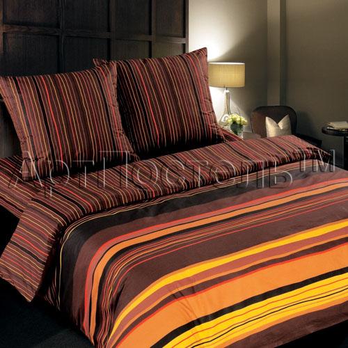 Постельное белье Темный шоколад (поплин) (Евро-1) постельное белье ecotex постельное белье шоколад