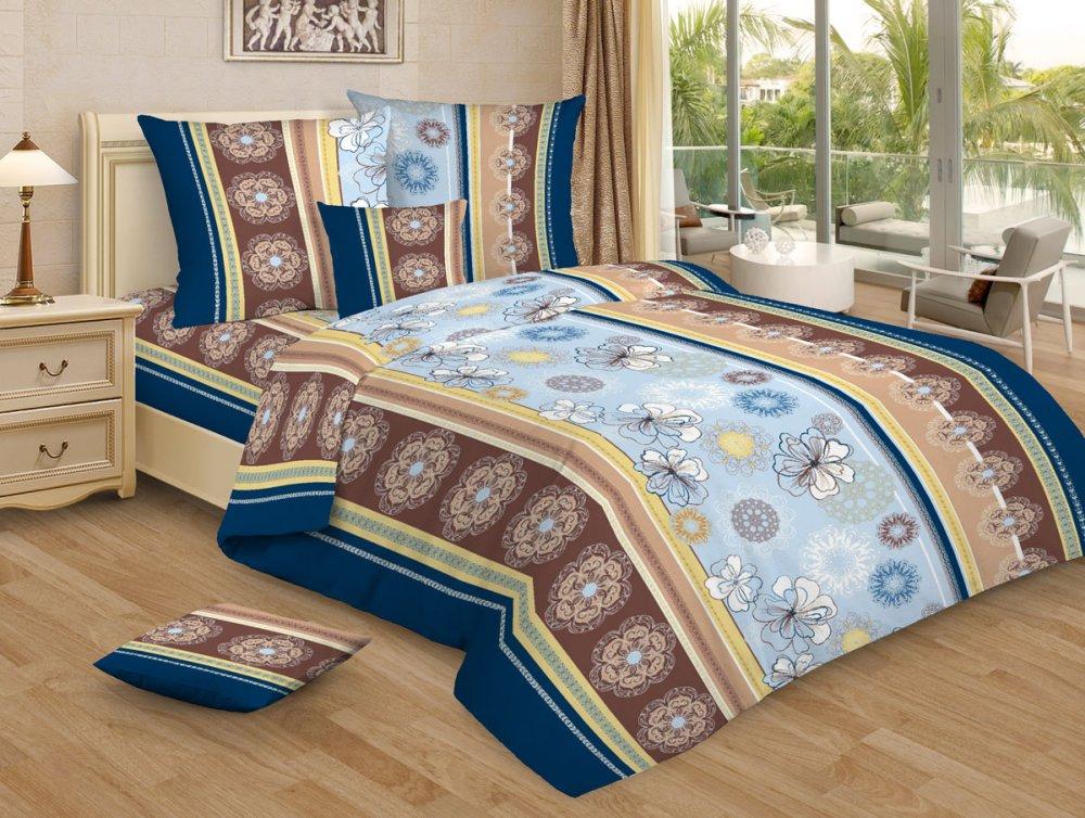 """Постельное белье """"Кружевная сказка голубой GS"""" (бязь) 1,5 спальный"""