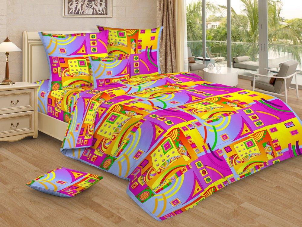 Постельное белье Иллюзия сиреневый GS (бязь) (1,5 спальный) постельное белье гербарий бежевый gs бязь 2 спальный