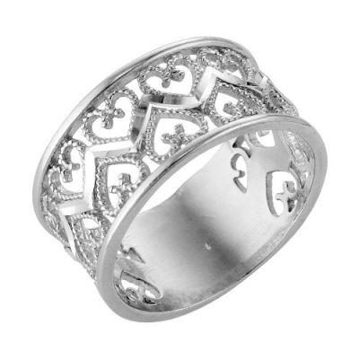 """Кольцо серебряное """"2306380б5"""" 19.5"""