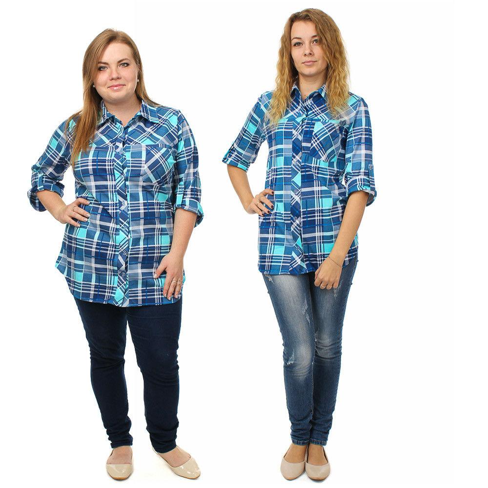 "Фото - Рубашку женская ""Саша"" 42 от Грандсток"