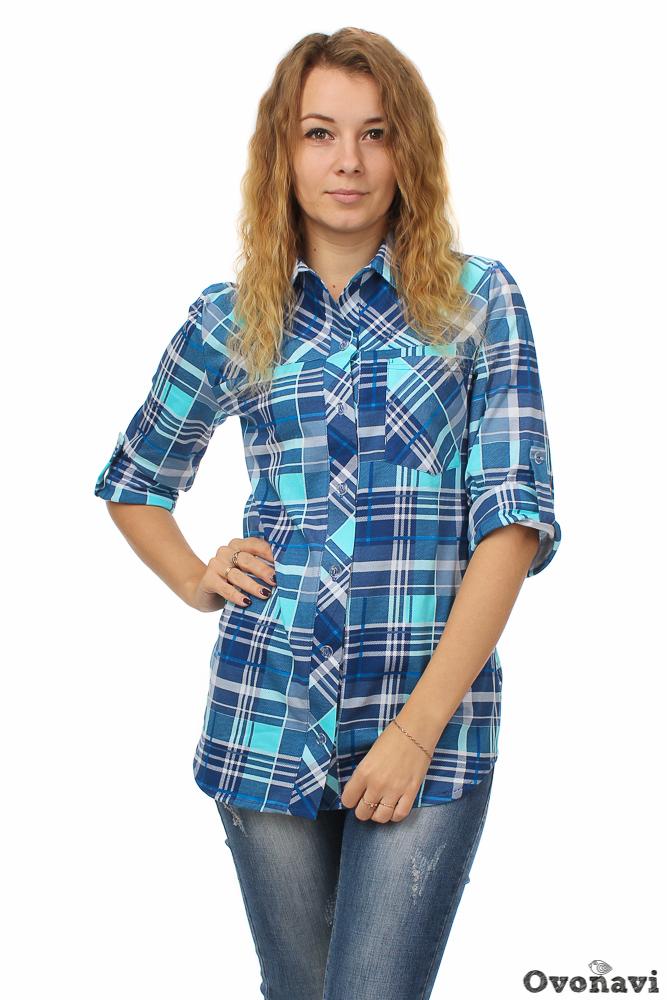 """Рубашка женская """"Саша"""" 42"""