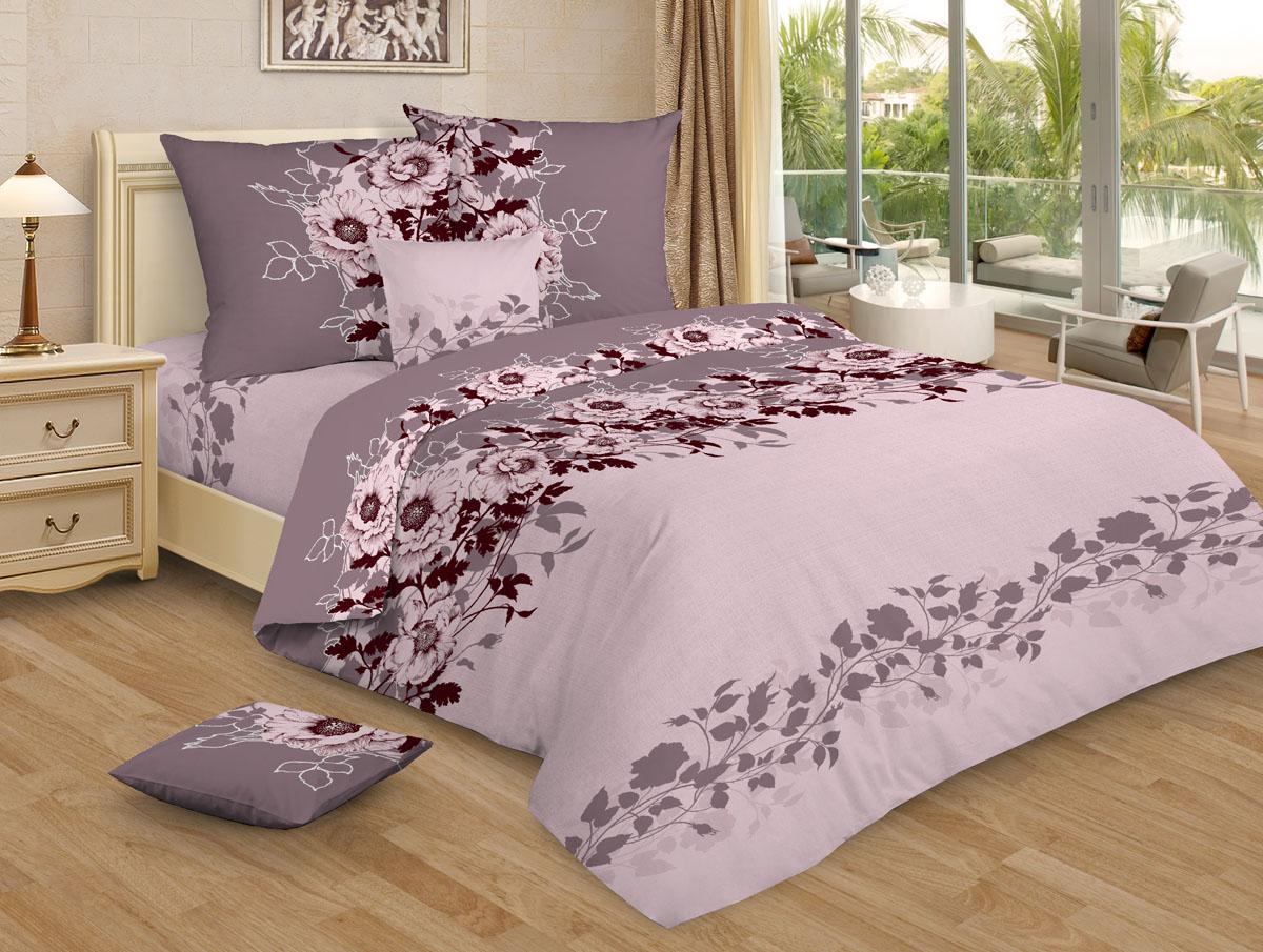 Постельное белье Ovonavi-1473 розовый (бязь) (1,5 спальный)