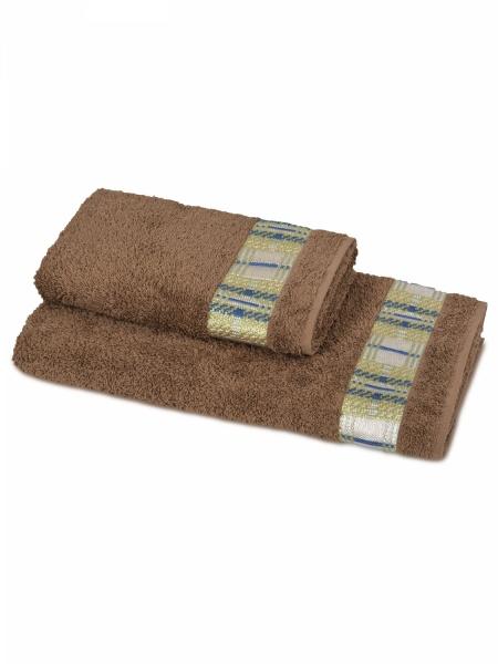 Полотенце махровое Кватро (коричневое) (50х90) antik полотенце 50х90 хлопок