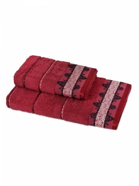 Полотенце махровое Милано (красное) (70х140) полотенце махровое 70х140 см brielle полотенце махровое 70х140 см