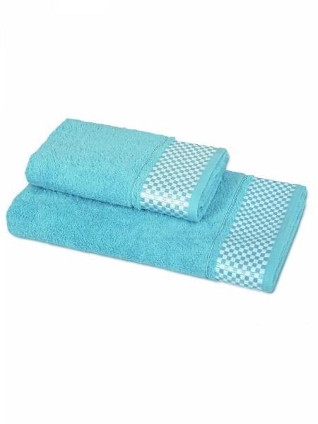 Полотенце махровое Шашки (голубое) (50х90) полотенца philippus полотенце laura 50х90 см 6 шт