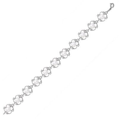 Браслет серебряный 733174б (18) браслет серебряный 730085б 18